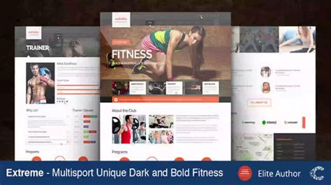 themeforest fitness extreme gym fitness theme themeforest website