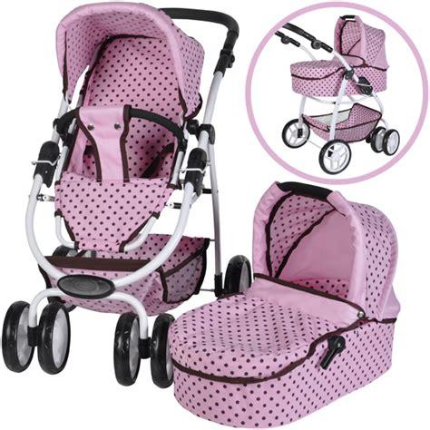 Puppenwagen F R 1 J Hrige 988 by Knorrtoys Puppenwagen Coco 2in1 Pink Mokka Dots Bei Nunon De
