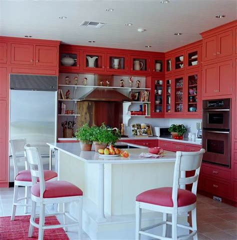 coral kitchen colorful kitchens with charisma traditional home