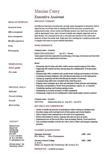 Sle Resume For Hr Admin Executive Administrative Assistant Resume Sle 28 Images Senior Assistant Resume Sales Assistant