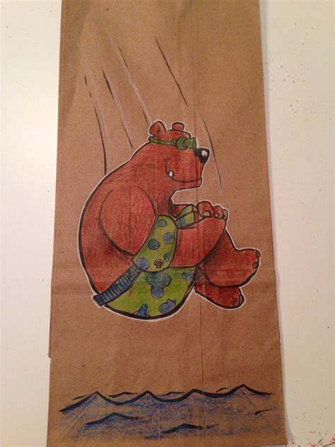 dad draws cool lunch bag cartoon character illustrations