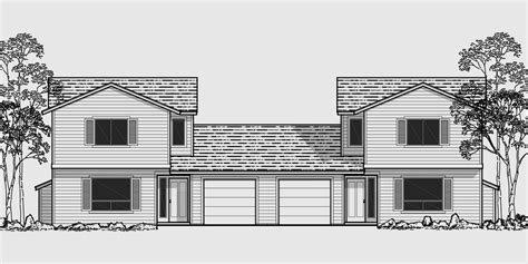 duplex plans with garage in middle duplex plans with garage in middle studio design