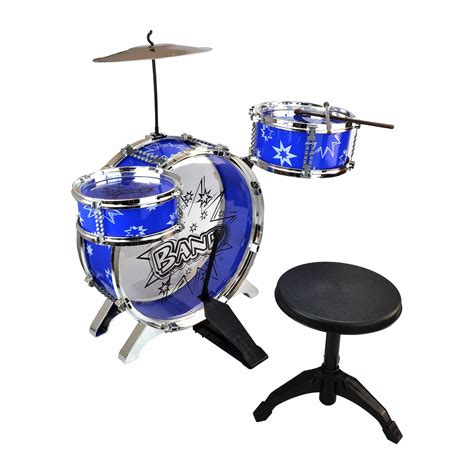 Toddler Drum Set With Stool new 4 junior drum kit chistmas gift set with stool ebay