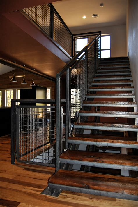 Banister Stairs Ideas Architect Designs Rustic Modern Dream Home With Banker