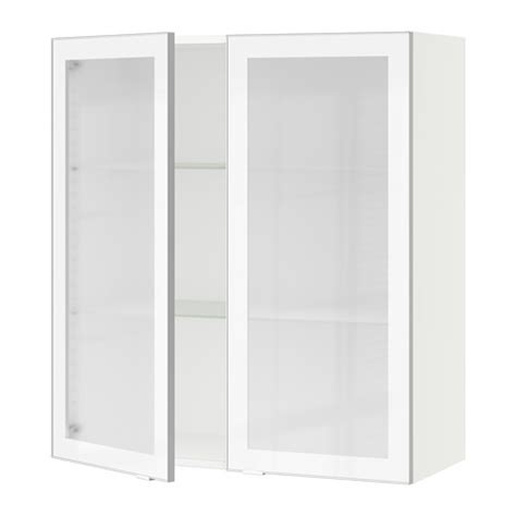 frosted glass cabinet doors sektion wall cabinet with 2 glass doors white jutis