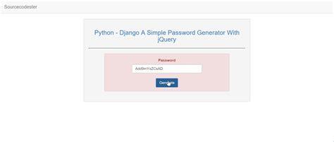 tutorial django jquery a simple password generator using django with jquery