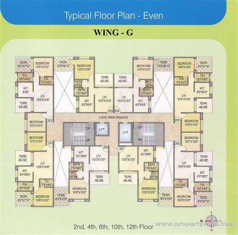 typical floor plan ellora nakshatra i land moshi pune residential