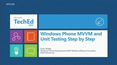 mvvm pattern unit testing windows phone mvvm and unit testing step by step teched
