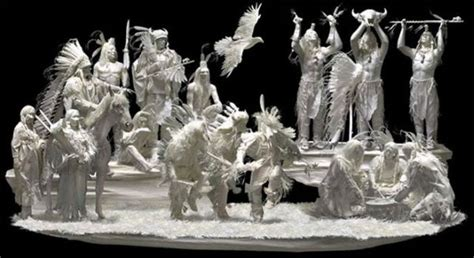 How To Make Paper Statues - white paper sculptures of the american west new