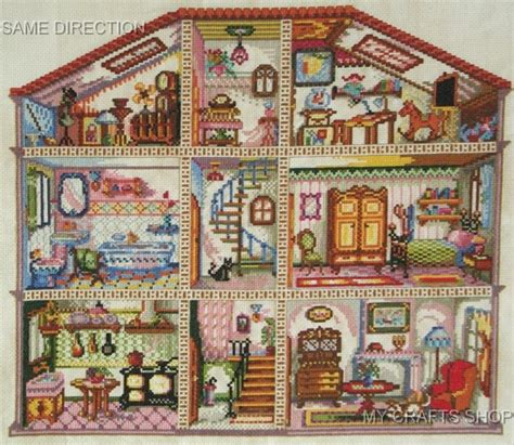 house pattern cross stitch cross stitch mania doll house cross stitch pattern chart