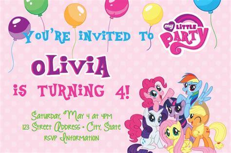 my little pony printable party decorations my little pony birthday party invitations amazing