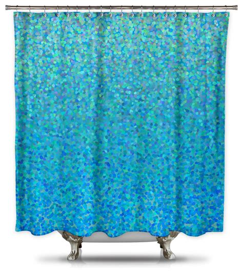 Blue Shower Curtains Catherine Holcombe Blue Raspberry Fabric Shower Curtain Contemporary Shower Curtains By