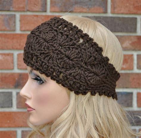 winter headbands pattern crochet headwrap womens crochet headband in chocolate