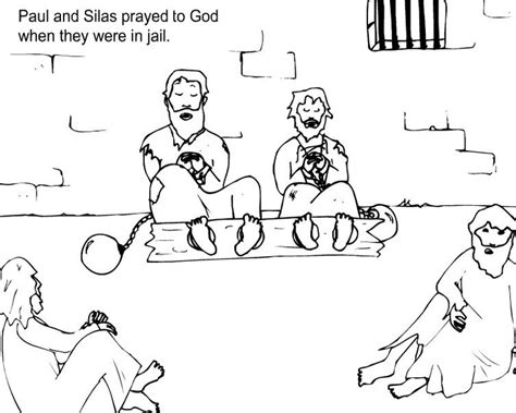 free coloring page paul in prison paul and silas prayed in jail lect 2013 pinterest in