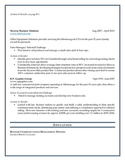 sle cv for key account executive application letter key account manager 28 images