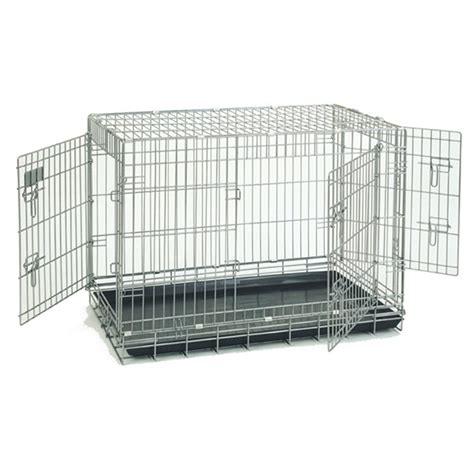 precision crate precision pet 174 3 door deluxe great crate 36x26x26 quot 174206 kennels beds at