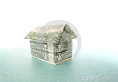 Dollar Bill Origami House - dollar house stock photo image 36051830