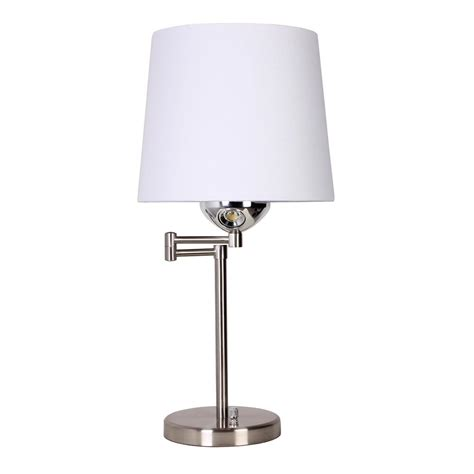 swing arm reading light 24 in brushed nickel desk l with swing arm and led