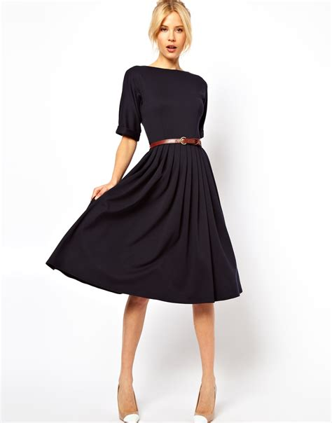 midi dress with skirt and belt shopping