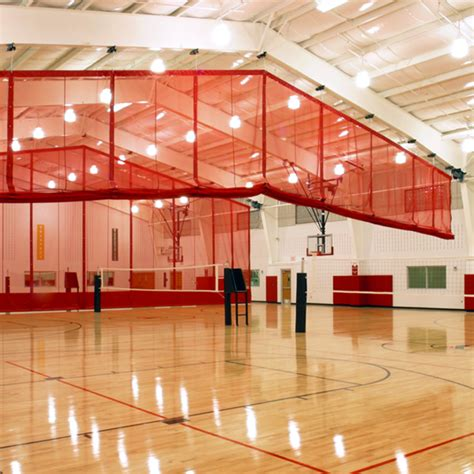gymnasium divider curtains ridge fold gym divider curtains draper inc