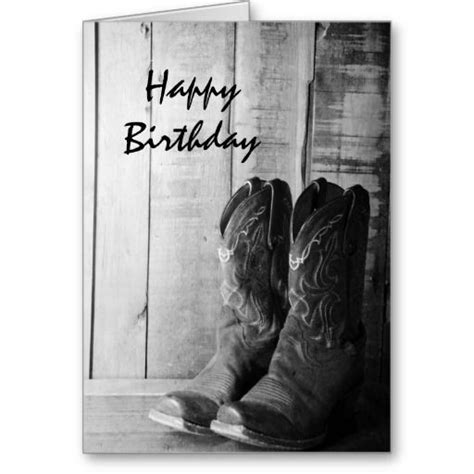 western themed birthday ecards rustic cowboy boots happy birthday card cards shopping