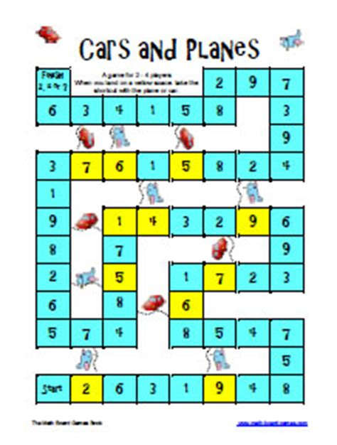 printable math board games for high school math games worksheets for high school free online