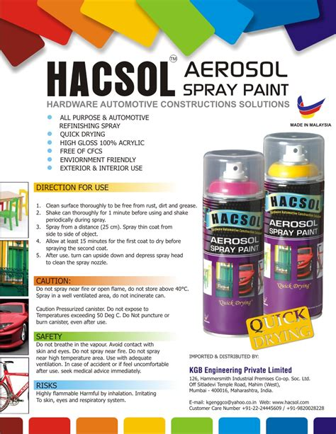 spray paint malaysia hacsol aerosol spray paints made in malaysia clear
