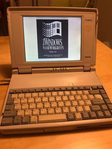 toshiba t1910 laptop 1994 model with poweradaptor and ms dos windows 3 11 catawiki