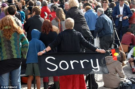 Kevin Rudd Apology Essay by Kevin Rudd S Apology To Aboriginal 10 Years On Daily Mail