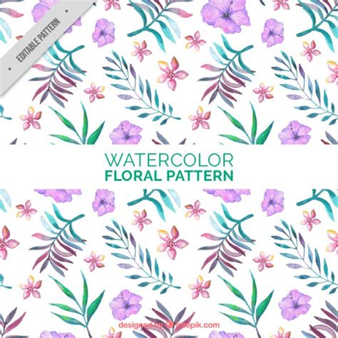 hand painted flower pattern hand painted floral pattern with leaves vector free download