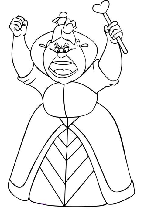 coloring page queen of hearts alice in wonderland coloring pages coloringsuite com