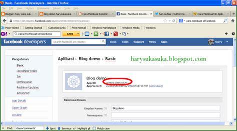 membuat facebook id cara membuat id aplikasi facebook untuk blog blog mashari