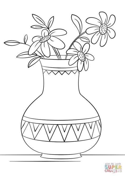 coloring pages vase of flowers 95 coloring pages flower vase drawing picture