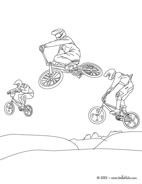 bmx cycling race coloring pages hellokids com