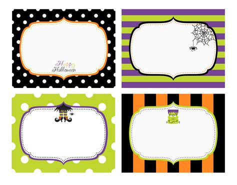 printable halloween tags 6 best images of free halloween printable labels blank