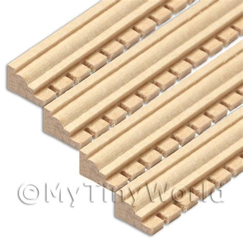 dolls house mouldings dolls house miniature components 4 x dolls house