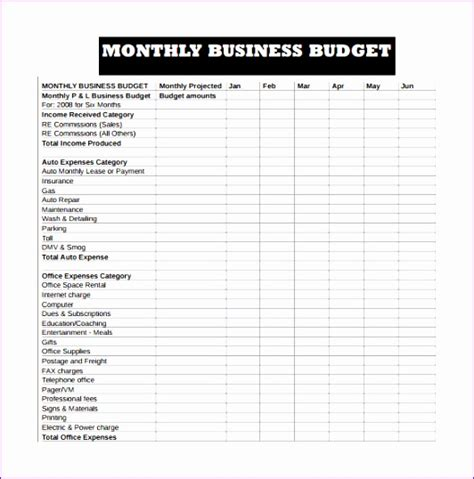 budget format in excel for manufacturing company 10 company budget template excel free exceltemplates