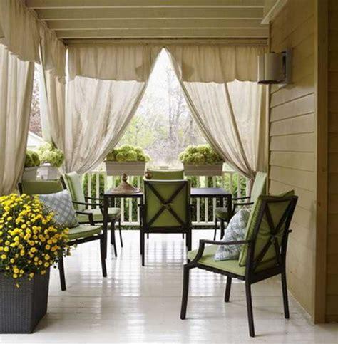 outdoor curtains  porch  patio designs  summer decorating ideas