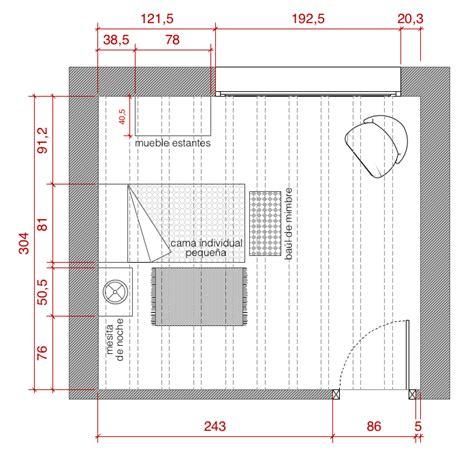 plano de habitacion plano de planta de distribuci 243 n acotado proyecto de