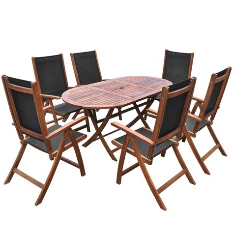 Folding Patio Dining Set Wood Seven Folding Outdoor Dining Set Acacia On Bistro Sets Patio Dining Furnitu