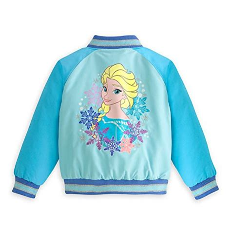 Dijamin Coat Frozen Blue disney authentic frozen varsity jacket for with olaf and elsa size 7 8 apparel accessories