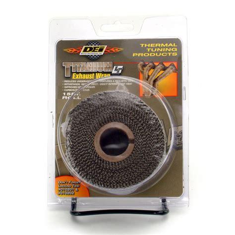 design engineering header wrap design engineering dei 010129 dei 2 quot titanium exhaust