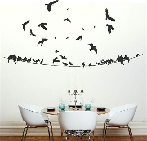 wall sticker pictures birds on a powerline