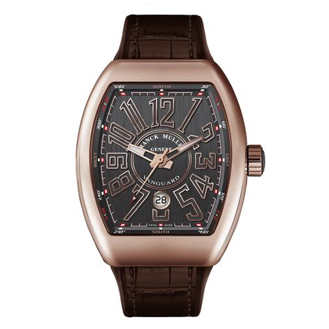 Franck Muller Vanguard franck muller vanguard gold brown band timepiece