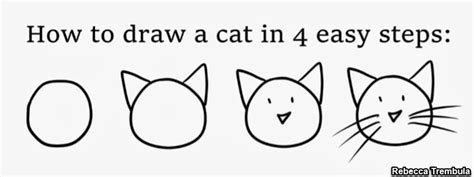 Easy Steps To Draw A Cat by News From The Studio How To Draw A Cat