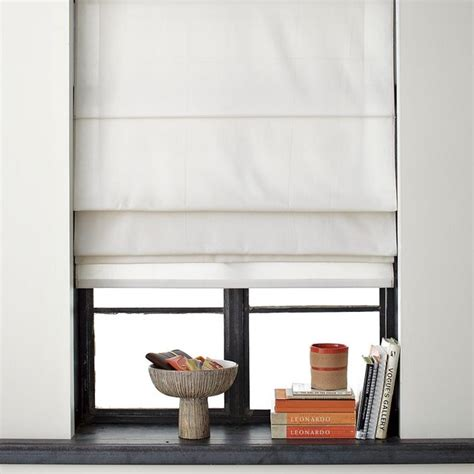 curtain shade solid roman shade contemporary curtains by west elm