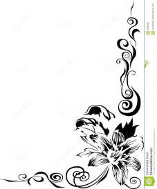 Beautiful Black And White Designs Black Lily Border Stock Photography Image 6046482