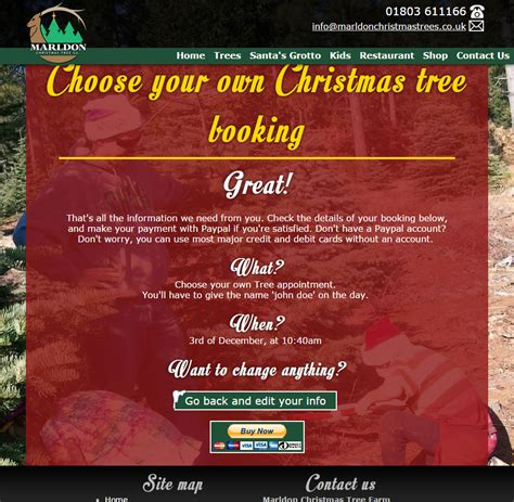marldon christmas trees website 2014 nerdshack