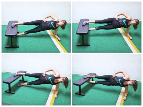side bench exercise tone those trouble zones glutes and inner thigh workout rs