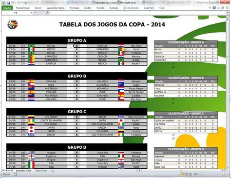 planilha tabela da copa 2014 tom 225 s v 225 squez